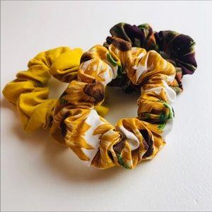 VSCO Sunflower Autumn Scrunchie Set